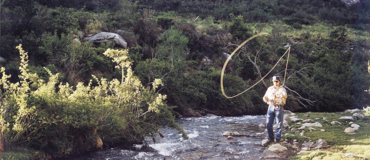 Pesca en arroyo de Potrerillos