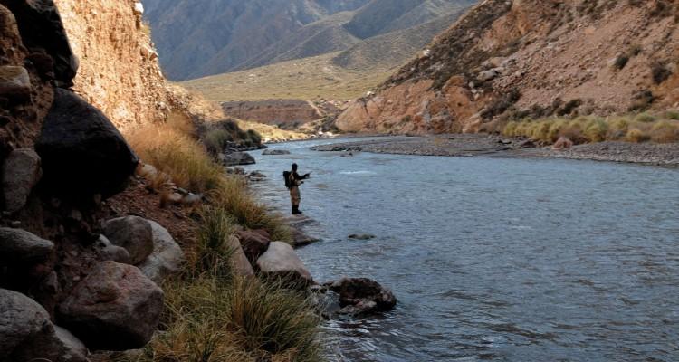 Circuitos de pesca: río Mendoza