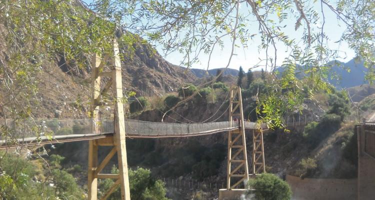 Puente colgante de Cacheuta