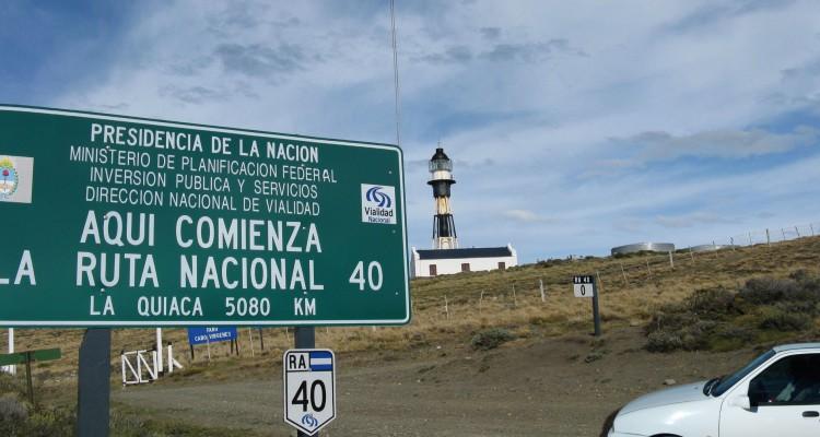 Ruta 40 extremo norte