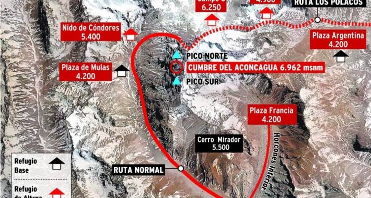 Aconcagua, más latinoamericanos