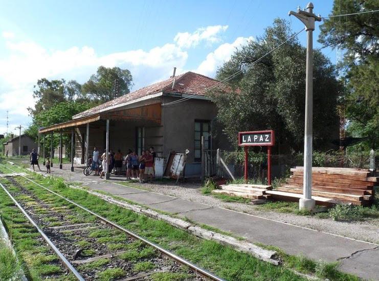 Histórica estación del ferrocarril en La Paz