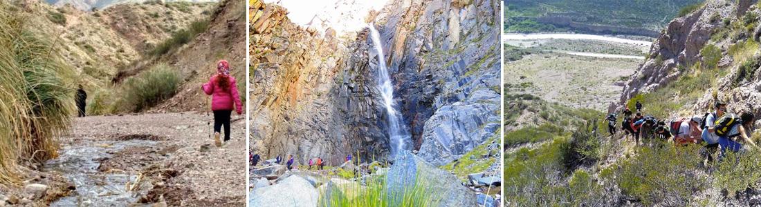 Trekking a la cascada de la quebrada del 55
