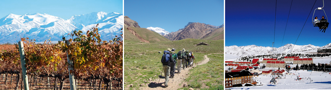 Principales destinos de Mendoza