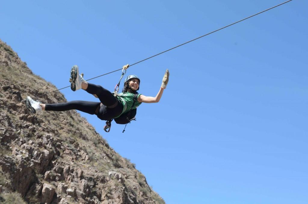 Aventura en Termas Cacheuta - Tirolesa
