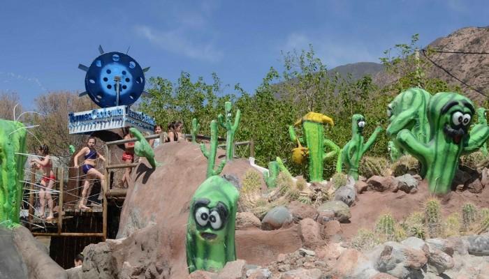 Interactivo con Cactus - Parque de Agua Termas Cacheuta