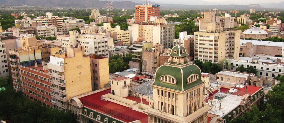 Vista panorámica del microcentro de la ciudad