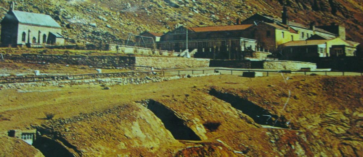 Antigua foto del hotel Puente del Inca