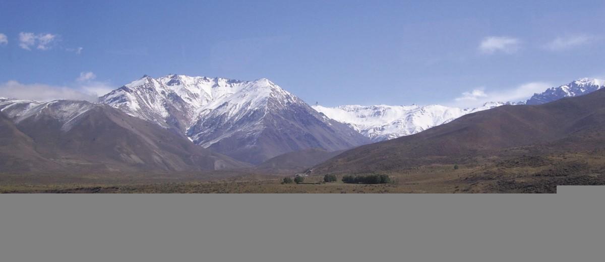 Orografía de Mendoza: Cordillera Principal