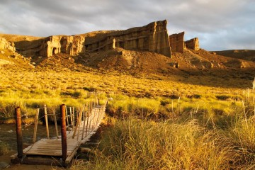 Atardecer en los Castillos de Pincheira