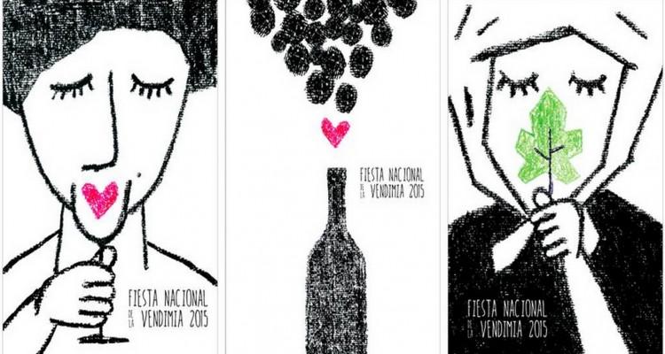 Afiche de la vendimia hecho por mendocinos