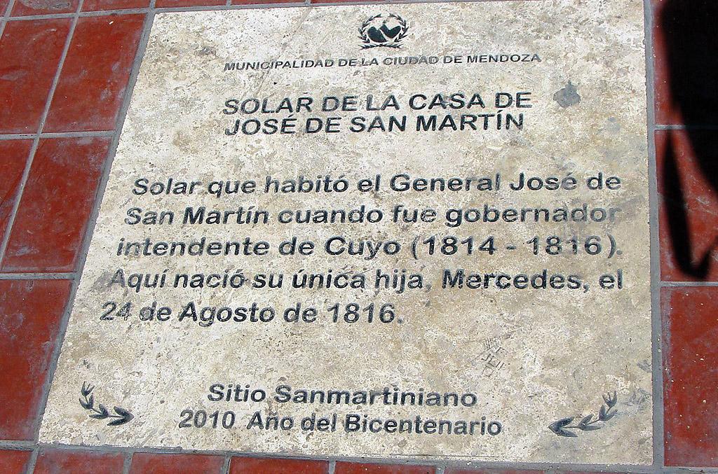 Casa del General San Martín en Mendoza